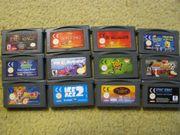 Verschiedene Nintendo Gameboy Advance Spiele
