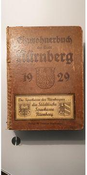 Einwohnerbuch Stadt Nürnberg von 1929