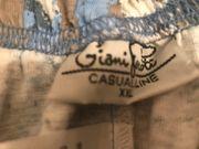 Stoffhose blau Baumwolle xxl