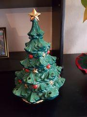 Antike Weihnachtsbaum Spieluhr