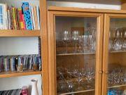 Wohnzimmer-Schrankwand Buche
