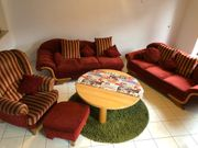 Couchgarnitur mit Ottomane und Sessel