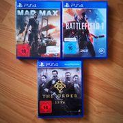 3x PS4 Spiele