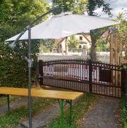 Ampelschirm Sonnenschirm Gartenregenschirm ca 3