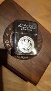 Zippo Silver Plate United States