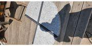 Runde Granitplatten für Sonnenschirmständer als