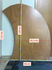 Schreibtischplatte außergewöhnliches Design Echtholz Buche