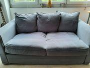 Bequemes Sofa 2-Sitzer in grau