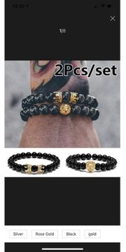 Armband Perlen für Männer Biker