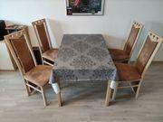 4 Stühle Esszimmer Hellbraun Modern