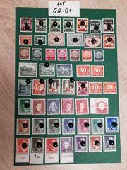 Lot GG-01 General G Briefmarken