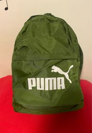 Toller Puma Rucksack Metallic Grün