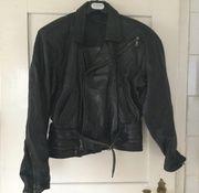 Lederjacke Größe M schwarz