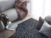 Teppich Kuhfell braun blau 160