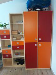 Kinderzimmermöbel Kleiderschrank Wimex Sunny Regale