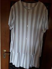 Kostüm Gr 48 weiß-beige gestreift