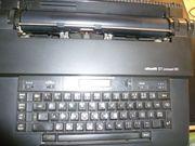 Schreibmaschine Olivetti elektrisch schwarz