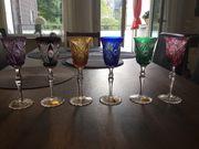 6 Bleikristall 24 handgefertigte Römergläser