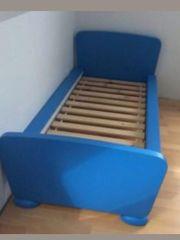 Ikea Mammut Kinderbett Blau inkl