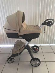 Stokke Xplory Kinderwagen und Babytragetasche