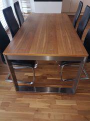 Tisch mit Auszugsfunktion inkl 6