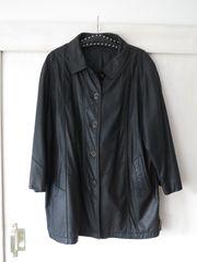 Lederjacke Damen schwarz Gr 48