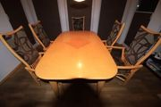 Esszimmertisch mit 4 Stühlen Rattan