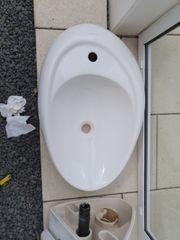 Waschbecken modern inkl Grohe-Armatur