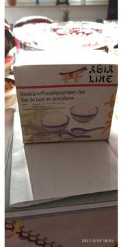 Reiskorn-Porzellanschalen-Set Neu im Karton