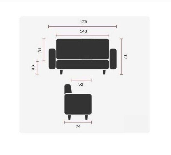 Couch Kunstleder neuwertig