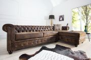 NEU Ecksofa Couch Chesterfield antik