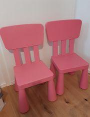 2 Kinderstühle rosa pink Ikea