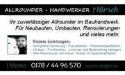 Allrounder - Handwerker - Hausmeister - Fliesenleger