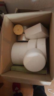Box mit styropordummies torten deko