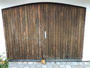 Garagentor 2-flügelig Holz Segmentbogen