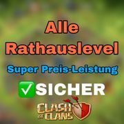 Clash of Clans Accounts - Alle Rathäuser