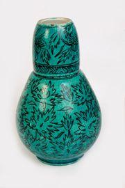 Porzellangefäß Krug Flasche m Deckel-Tasse