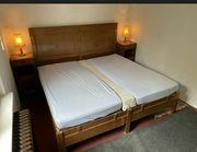 Bett antik Nachtschränke 20er Jahre