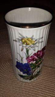 Goldrand Waldershof Vase - schlanke Porzellan