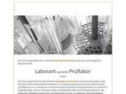 Laborant m w d Prüflabor