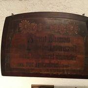Altes Holzbild Größe 50 x