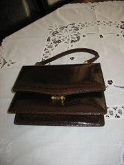 Damenhandtasche aus Schlangenleder
