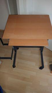 Computertisch mit Tastatur Mausablage ausziehbar
