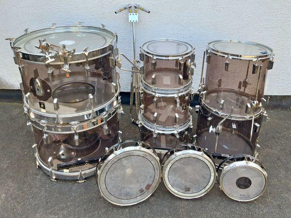Vintage-Drum-Set SONOR Phonic Acryl smokey