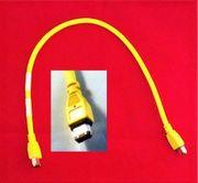 8x Kabel 1394 Firewire gelb