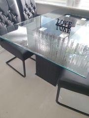 Esstisch glastisch H75xL150xB95