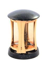 Exclusive Grablampe bronzefarben mit Granit