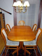 Esszimmertisch mit 6 Stühlen Auszugstisch