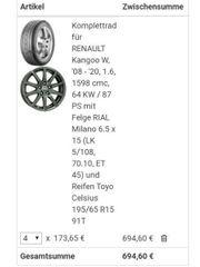 4x Komplettradsatz für Renault Kangoo
