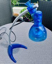 Schreibtischlampe blau